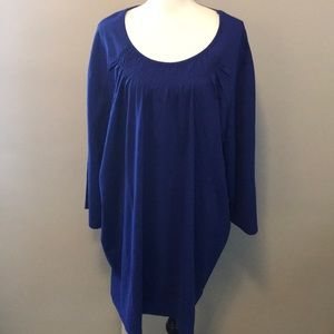 Liz & Me Royal Blue tunic top 4X 30/32w